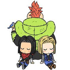 Dragon Ball Z   DBZ   Androides   16   17   18   Anime