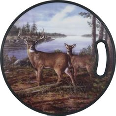 Round PPE Cutting Board - Deer