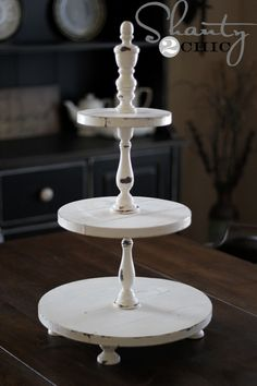 Tutorial for making a wooden cupcake tower