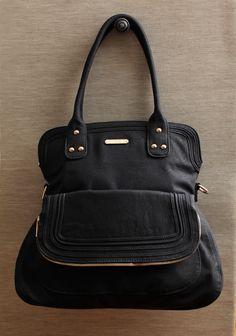 Timi Leslie Diaper Bags Hayley Velvet Black