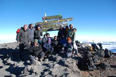 Uhuru Peak with the old sign