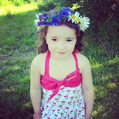 Swedish midsummer girl, in Bonnie dress!