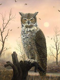 "Bubo, 2009 - Robert Bissell  30"" X 40""     Oil on Canvas"