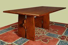 Bodmer Trestle Table in quarter sawn oak by Peter Maynard