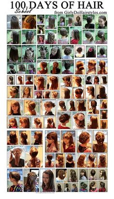 Girly Do's By Jenn: 100 Days of School Hairstyles - Click image to find more hai. - 100 Days of School 💯 Little Girl Hairdos, Little Girls, Girls Hairdos, Hairstyles For School, Cute Hairstyles, Hairstyle Ideas, Amazing Hairstyles, Princess Hairstyles, 100 Days Of School