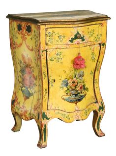 Rare 19th c. Venetian Bombe Serpentine Commode