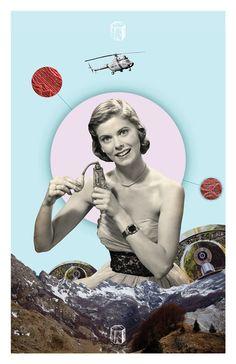 Future Americana Retro Poster 2 by 845studio on Etsy, $15.00