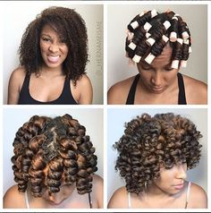 The Perfect Curls To Wear During The Holidays....Perm Rod Set IG:@_hernameisme ‪#‎naturalhairmag‬
