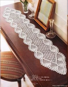 nice Free Crochet Table Runner Patterns Check more at…beautiful tablecloths crochet pattern ~ make handmade - handmade - handicraftmany free crochet patterns here pretty table runner by chrystalee - PIPicStatsBethSteiner: toalhas NTS lots of patter Hard Crochet Table Runner Pattern, Crochet Tablecloth, Crochet Curtains, Crochet Diagram, Filet Crochet, Crochet C2c, Crochet Home, Crochet Crafts, Diy Crafts