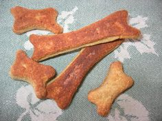 Chicken Liver Dog Biscuits from Food.com: My dogs love these treats. To speed preparation, I boil the entire container of chicken livers at once, puree them with a little oil in my food processor, and freeze in half-cup portions.