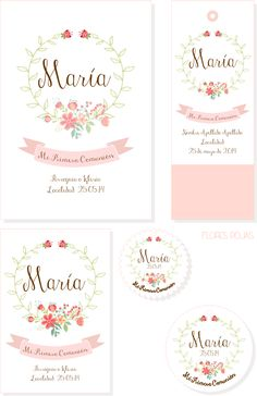 tyna party: Recordatorios Primera Comunión para niñas Communion Invitations, Budget Planer, Baptism Party, Ideas Para Fiestas, First Holy Communion, Communion Dresses, Baby Birthday, Baby Cards, Christening