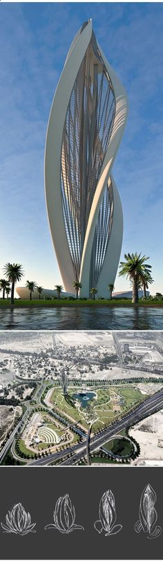 Dubai architecture buildings of the United Arab Emirates : Blossoming Dubai by Petra architects Selected by Atelier Av Architecture Antique, Architecture Design, Futuristic Architecture, Beautiful Architecture, Contemporary Architecture, Contemporary Interior, Luxury Interior, Interior Ideas, Interior Design