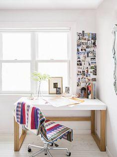 white desk nook