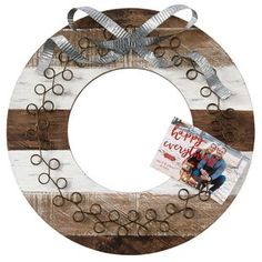 00ce3c9f7 Beautiful Home Decor, Beautifully Priced Wooden Wreaths, Christmas Card  Holders, Christmas Cards,