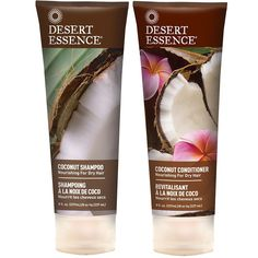 Desert Essence All Natural Organic Coconut Moisturizing Shampoo and Conditioner For Dry or Frizzy Hair With Aloe Vera, Jojoba, Witch Hazel and Shea Butter, 8 fl. oz. each > Additional details found at the image link  : essential oils