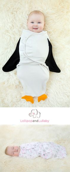 Looking for the perfect baby gift that is filled with cuteness? Our 100% organic baby swaddles will make your baby feel safe, warm and secure. We have six different prints to choose from including this adorable penguin one. Whether you're looking for the perfect baby shower gift or you're buying this for your own adorable loved one, visit LollipopandLullaby.com for your baby needs.