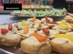 This page is the Starters and Canapes of the Braveheart Catering and Bars website. Canapes Catering, Catering Menu, Braveheart, Stuffed Sweet Peppers, Starters, Hummus, Meals, Breakfast, Food