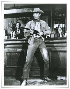 "Chuck Connors as Lucas McCain   ""The Rifleman"""