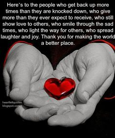 Heartfelt Love And Life Quotes: Here's to the people who get back up more times than they are knocked down. Thank You Quotes Gratitude, Romantic Love Messages, Inspiring Quotes About Life, Inspirational Quotes, Autoimmune Arthritis, Rheumatoid Arthritis, Get Back Up, Heartfelt Quotes, Health Quotes