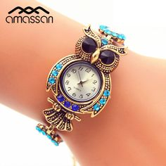 Vintage Quartz Watches Luxury Brand Owl Fashion Women Bracelet Watch Gold Rhinestone Watches Beautiful Girl Gift Watch //Price: $13.93 & FREE Shipping //     #ladies