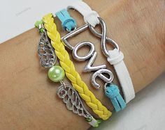 love bracelets for herinfinite braceletslove wing by lifesunshine, $6.99
