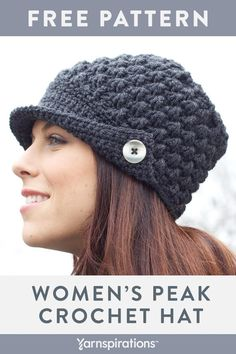 This free women s crochet hat pattern has a cool 5b1bfaf549e5