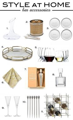 style at home bar accessories