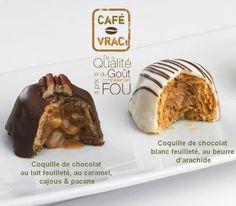 Obtenez gratuitement 227gr de ces délicieuses coquilles de chocolats feuilletés avec toute commande ! Caramel, Promotion, Muffin, Pudding, Breakfast, Desserts, Food, White Chocolate, Butter