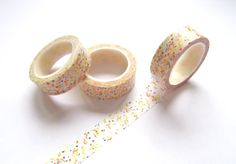 Confetti Washi Tape  Sprinkles Party Japanese by pinkdotsetc