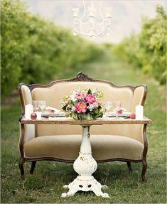 Wedding Wednesday: Lovely Sweetheart Table - WinMock at Kinderton - Bermuda Run, NC