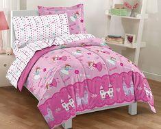 Dream Factory Magical Princess Ultra Soft Microfiber Girls Comforter Set, Pink, Twin