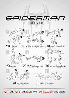 devenir un papa super heros - entrainement muscu spiderman