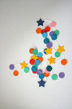 Guirlande confettis & stars - garland