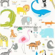 Animal Magic white behang 111287, Guess Who van Scion