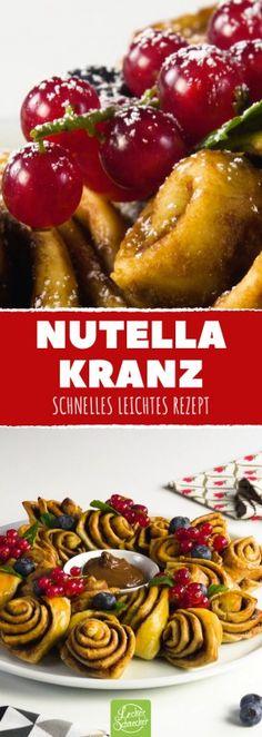 Nutella Kranz #gebäck #kuchen #backen #nuss-nougat #creme