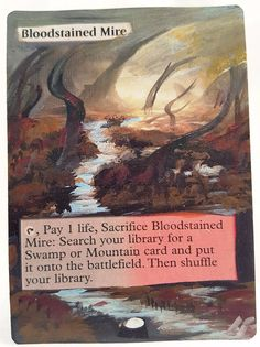 Bloodstained Mire ~This Is Only One Of My Altered Cards From This Weeks Batch! To See Them All Go To   http://stores.ebay.com/MTGAlteredMagicCards #MTG #MtgAltered #MtgAlteredArt #MtgHandPainted #MtgExtendedArt #Magic #MagicTheGathering #MtgAlter #Wotc #Scg #Tcg