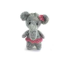 stuffed elephant miniature softie elephant by tinyworldbycrochAndi