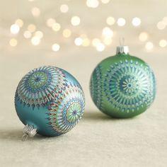 Dreamcatcher Ball Ornaments | Crate & Barrel