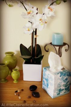 Show It With Style at ALittleClaireification.com #KleenexStyle #sponsored #Orchids