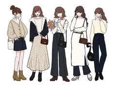 Anime Outfits, Cute Outfits, Girl Outfits, Fashion Outfits, Fashion Design Drawings, Fashion Sketches, Anime Girl Dress, Fashion Design Template, Drawing Anime Clothes
