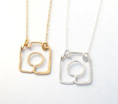 shoot me camera necklace gold filled or sterling by makepienotwar, $42.00