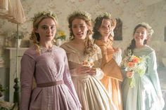 Masterpiece, BBC One and Playground have released a first-look image from the TV adaptation of Louisa May Alcott's classic novel, Little Women. Set against the backdrop of a country divided, the st… Kyra Sedgwick, Movies Showing, Movies And Tv Shows, Meg March, 20 Tv, Woman Movie, Bbc One, Period Dramas, Period Movies