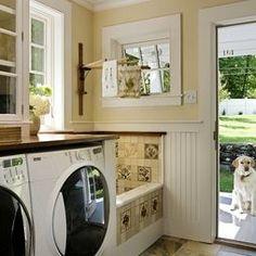 Laundry Photos Design with dog bath