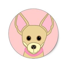 LiL Chihuahua Girl Stickers