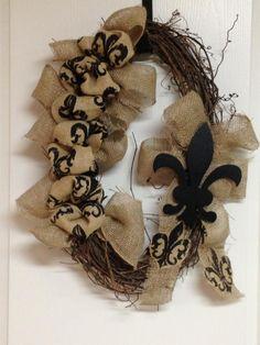 My Fall Wreath. Burlap Wreaths, Fall Wreaths, Mesh Wreaths, Louisiana Mardi Gras, Louisiana Art, Wreath Crafts, Wreath Ideas, Fall Crafts, Christmas Crafts