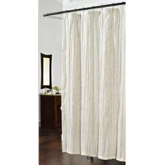 @Overstock.com - Embroidered Crewelwork Swirl Ivy Shower Curtain - Complete the look of your bathroom with this embroidered shower curtain. Featuring swirling floral and ivy crewelwork embroidery, this off-white 100 percent polyester shower curtain has an understated look that will add style to your bathroom.  http://www.overstock.com/Bedding-Bath/Embroidered-Crewelwork-Swirl-Ivy-Shower-Curtain/7986796/product.html?CID=214117 $26.49