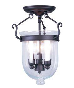 Livex Lighting 5061 Jefferson 10 Inch Semi Flush Mount