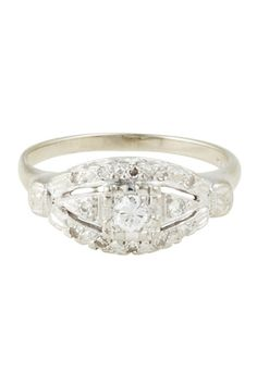 Love, Adorned Vintage Art Deco Diamond Ring, $1,150, available at Love, Adorned, 269 Elizabeth Street (between Houston and Prince streets); 212-431-5683.