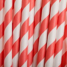 Vintage Paper Drinking Straws - Coral Striped Paper Straws (25/Pack) [Coral Buy Bulk Paper Straws] : Wholesale Wedding Supplies, Discount Wedding Favors, Party Favors, and Bulk Event Supplies