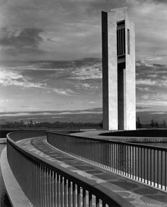 The National Carillon, Canberra; as photographed by Max Dupain, 1970.